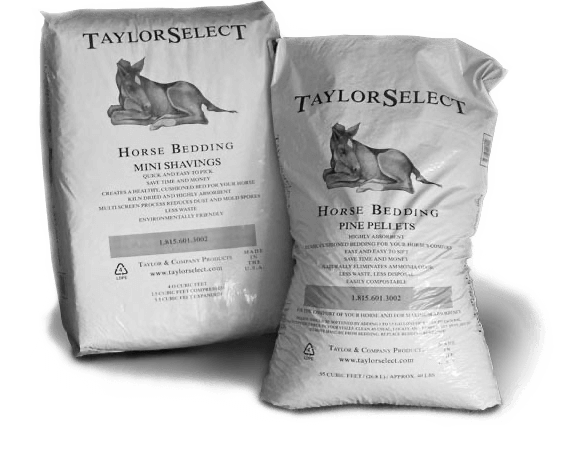 Taylor Select horse bedding bags